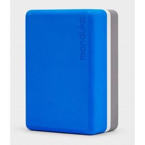 Manduka Uphold Recycled Foam Block - Be Bold Blue