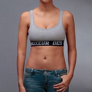 Boxeur De Rues Lady Sleeveless Sport Top Grey Melange