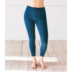 Manduka Cross-Back Crop Legging Maldive Melange