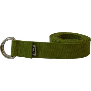 Green Practice Strap with Brass D-Ring