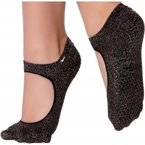 Shashi Sweet Open-Top Non-Slip Sock - Black Silver
