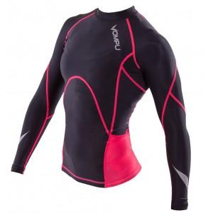 "OMPU Longsleeve Compression Shirt ""Multisports"" Black/Pink"