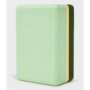 Manduka Uphold Recycled Foam Block - Green Ash
