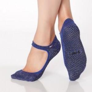 Shashi Sweet Open-Top Non-Slip Sock - Indigo Gold